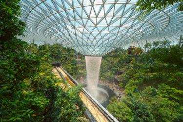 【シンガポール】チャンギ空港に新オープン!ターミナル直結の商業施設ジュエル(JEWEL)屋内の滝!シンガポール旅行の最新観光スポット【チャンギ国際空港】